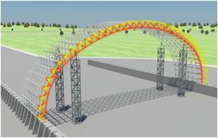 工法-超大跨度拱棚网架结构施工方法