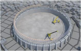 工法-超大直径钢网架穹顶结构施工方法2