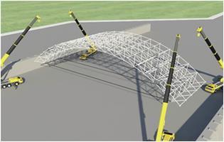 工法-螺栓球网架筒壳储料仓逆安装施工方法